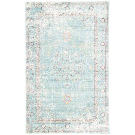 jaipur rugs ceres vintage floral medallion indoor area rug walmart com