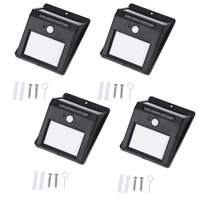 4 pack Motion Sensor Lamp,Portable Outdoor Waterproof Solar Power 20 LED Motion Induction Lamp Sensor Light Bulb for Wall Front Door,Patio,Deck,Yard,Garden