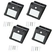 4 pack Motion Sensor Lamp,Portable Outdoor Waterproof Solar Power 20 LED Motion Induction Lamp Sensor Light Bulb for Wall Front Door,Patio,Deck,Yard,Garden