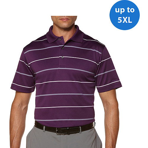 Ben Hogan Big Men's Short Sleeve Striped Print Polo