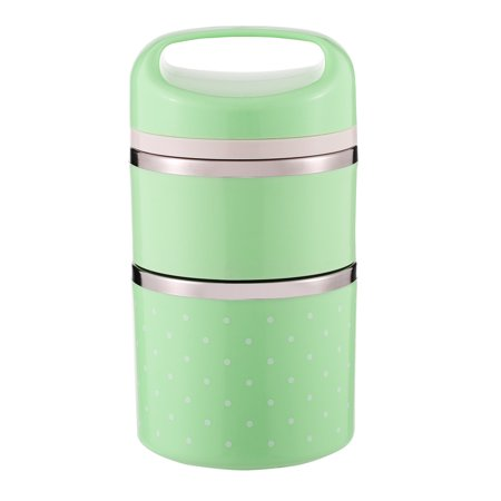 Good Monkey Lunch - 1080ml 2-Layer Good Quality Stainless Steel Thermal Lunch Box Practical Handy Insulation Lunch Box Multifunctional Heat & Cold Preservation Box Food Carrier Travel & To-Go Food Containers