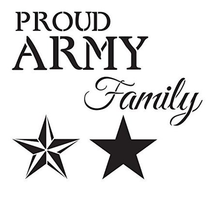 Proud Army Family Stencil by StudioR12 Patriotic Military Word Art Lar