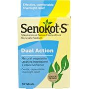 Senokot-S Dual Action Natural Laxative Plus Stool Softener, 10 Ct