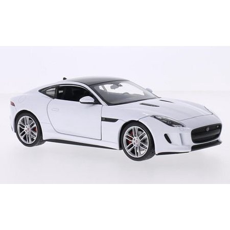 f-type coupe, white/black, model car, ready-made, welly 1:24, year