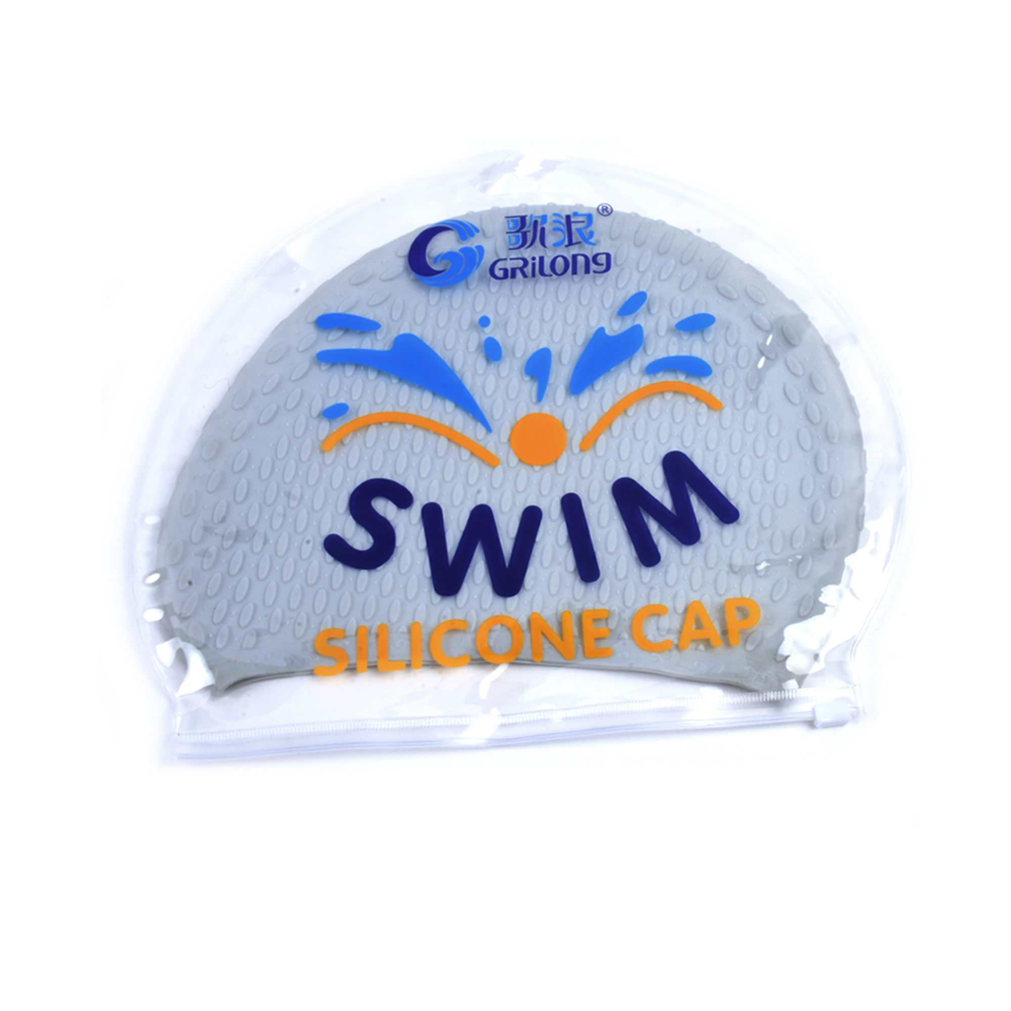 JML Silicone Swim Cap Soft Flexible Elastic Water-Drop Swimming Cap For Unisex Adult Men Women Long Hair Swim Cap Pure Color 2 PCS