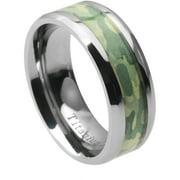 Daxx Men's Titanium Camouflage Inlay Ban