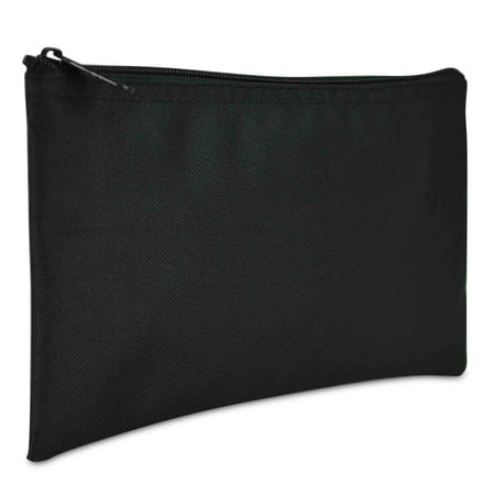 Plastic Coin Bag - DALIX Bank Bags Money Pouch Security Deposit Utility Zipper Coin Bag in Black