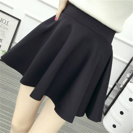 41254b520 Female High-waisted Mini Pleated Skirt Large Swing Skirt Fashion A-line  Skirt with ...