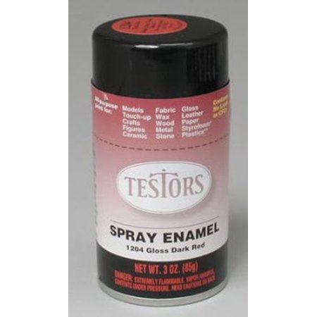 Dark Red Spray Testors Enamel Plastic Model Paint