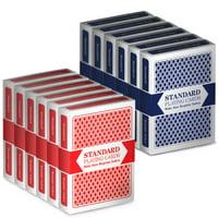 12 Decks (6 Red/6 Blue) Brybelly Cards (Wide/Standard)