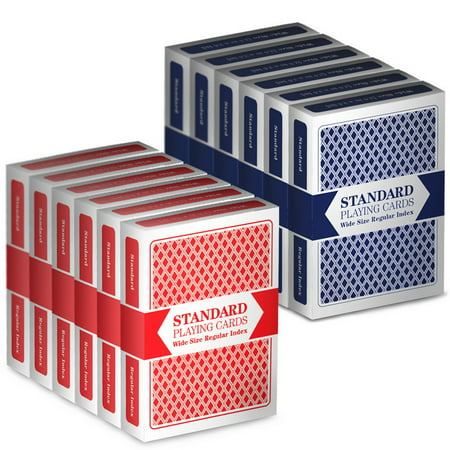 12 Decks (6 Red/6 Blue) Brybelly Cards