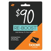 Boost Mobile $90 Re-Boost Card (Email Delivery)