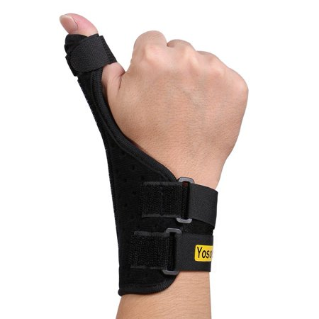 Adjustable Neoprene Unisex Thumb Stabilizer Brace with Moveable Splint for Finger Arthritis Tendonitis Thumb Symptoms to relieve Pain ()