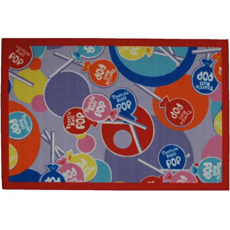Fun Rugs Tootsie Roll Pop Kids Rugs - Fun Rugs Tootsie Roll