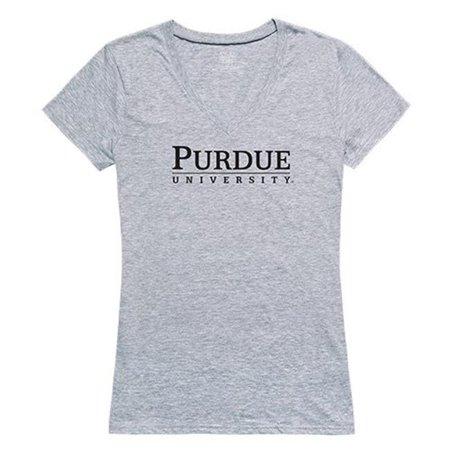 W Republic Apparel 520-183-H08-01 Purdue University Women Seal Tee Shirt - Heather Grey, Small - image 1 of 1