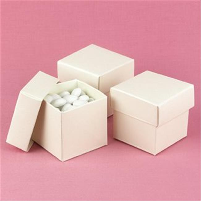 Hortense B Hewitt 90218P Ivory Shimmer 2 piece Favor Boxes - Personalized.