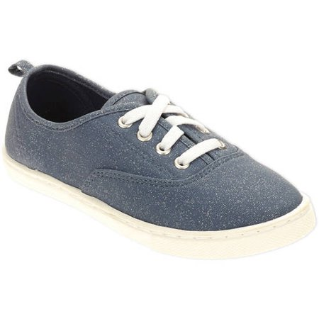 Faded Glory - Faded Glory Girls  Lace-Up Canvas Casual Shoe ... 908eae0d483