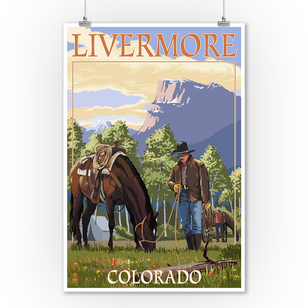 Home Decor Livermore: Cowboy And Horse In Spring