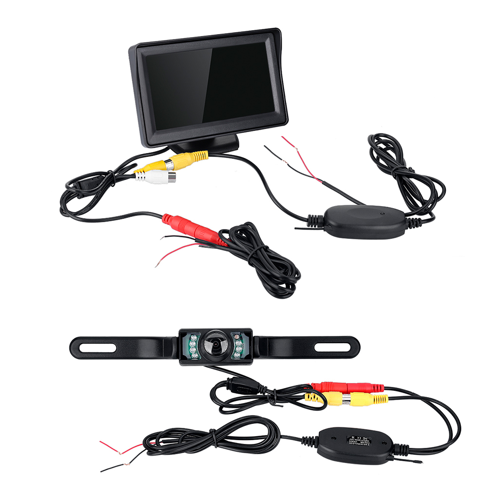 WD - 403SY 4.3 inch TFT Monitor Wireless Car Backup Wireless Transmitter Receiver Camera