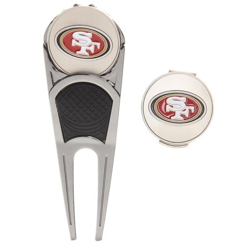 San Francisco 49ers WinCraft Divot Tool, Ball Marker & Hat Clip Combo Set - No Size