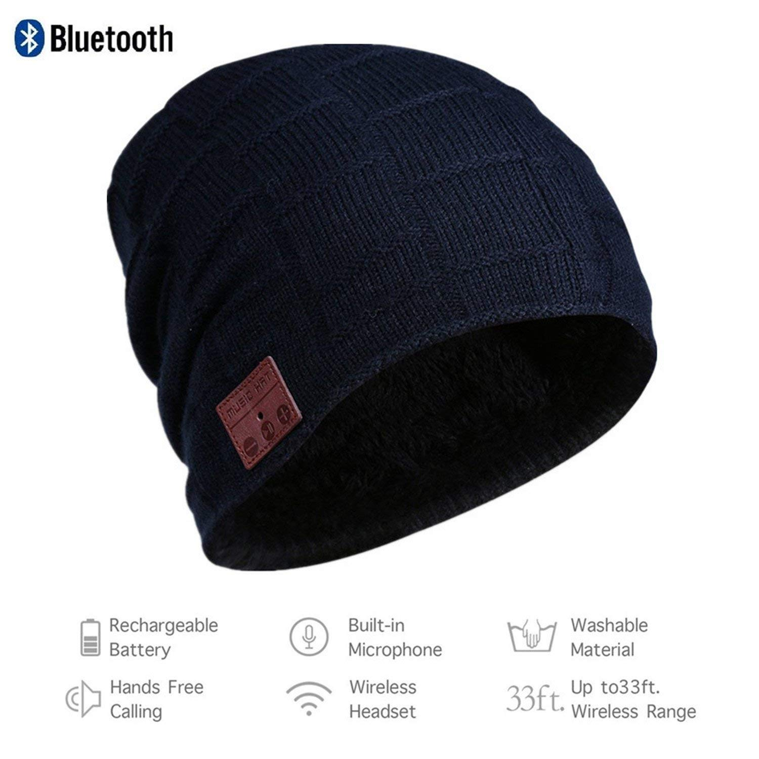 267a6cda5be Wireless Bluetooth 4.2 Beanie Hat Music Cap Musicphone Speakerphone Stereo Headphone  Headset Earphone Speaker Mic Outdoor Sport Skiing Skating with Charger ...