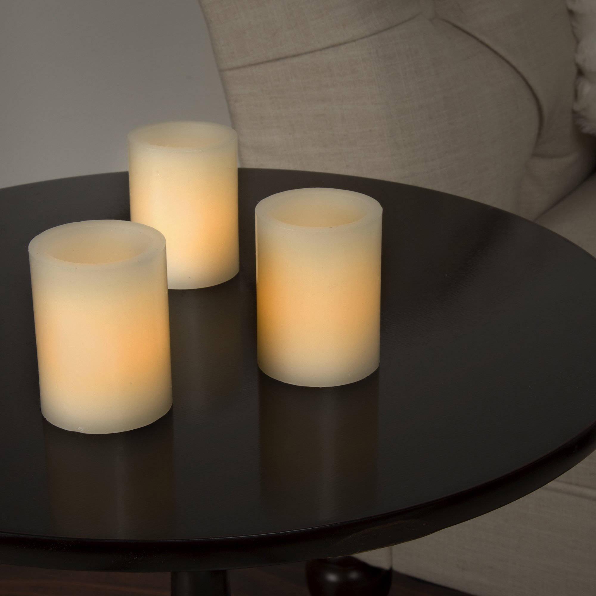 Lavish Home 8-Piece LED Votive Flameless Wax Candle Set