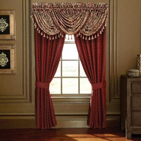 Croscill  Roena Red Curtain Panel Pair