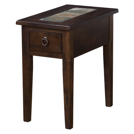 Sunny Designs Santa Fe Rectangle Chair Side Table - Dark Chocolate