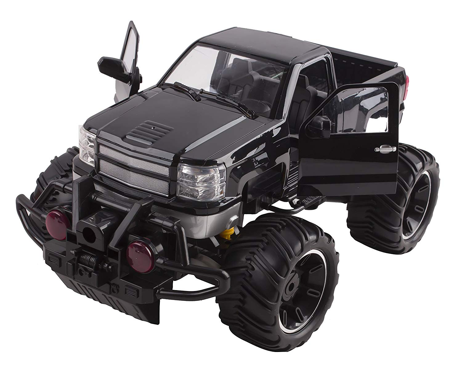 Wheel Beast Rc Monster Truck Remote Control Doors Opening Car Light Up With Led Headlights Ready To Run Includes Rechargeable Battery 1 14 Size Off Road