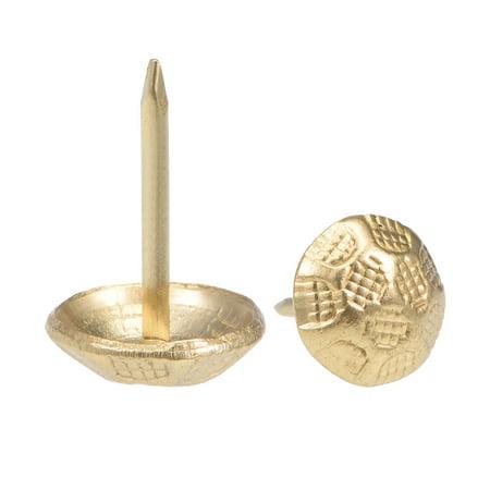 Upholstery Nails Tacks 11mm Head Dia Thumb Push Pins Gold Tone 15 Pcs - image 4 of 4