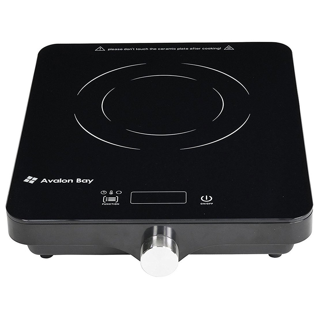 Avalon Bay Electric Portable Ceramic Deluxe Countertop Induction Cooktop Burner