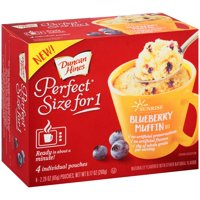 (2 Pack) Duncan Hines Perfect Size for One Sunrise Blueberry Muffin Mix 2-2.29 oz Box