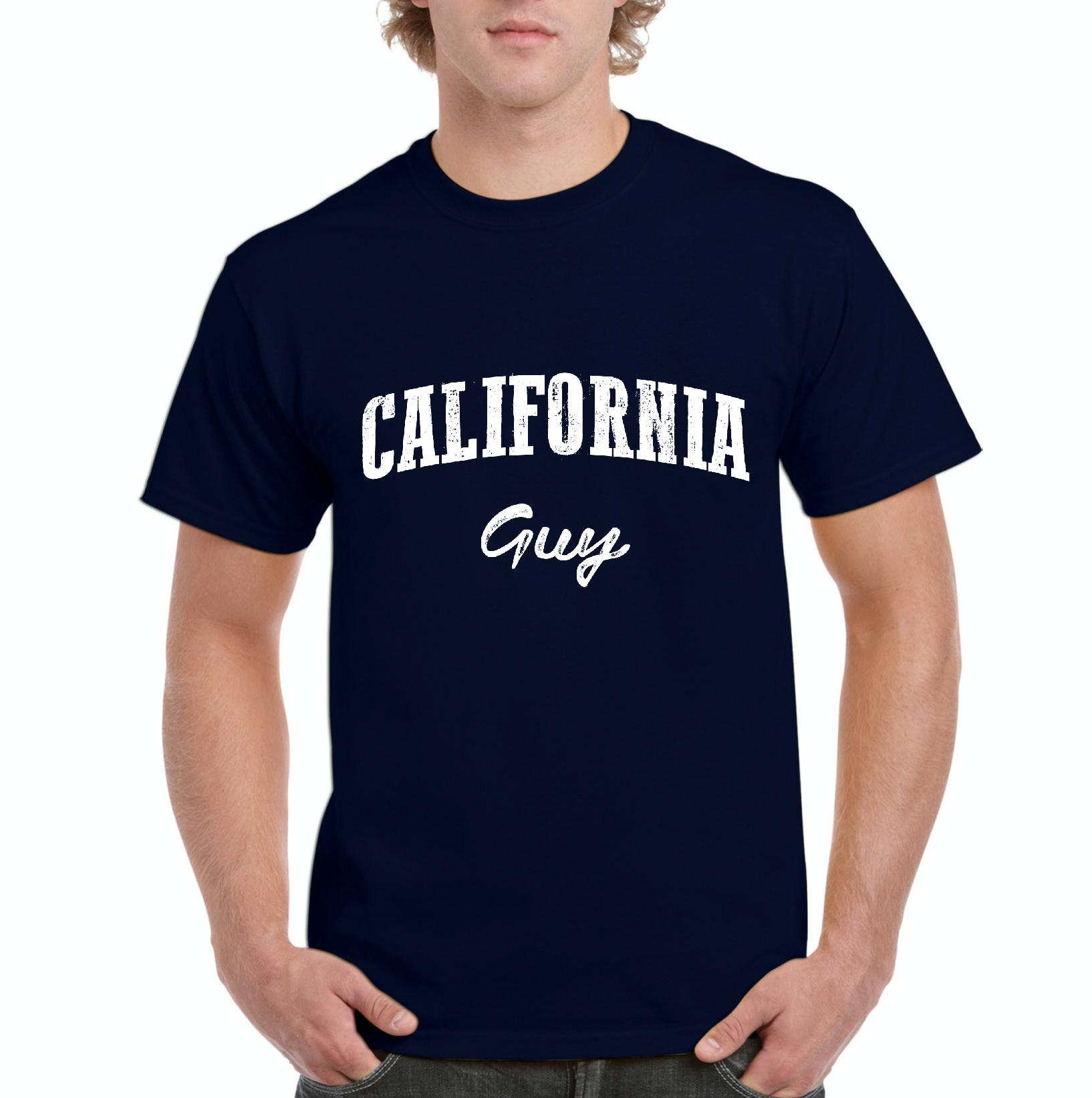 J_H_I CA Guy California Map Flag Home of University of Los Angeles UCLA USC CSLA Mens Shirts