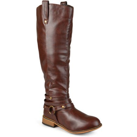 Image of Brinely Co. Women's Mid-calf Wide Calf Riding Boots