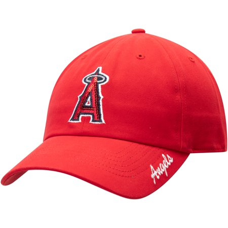 Los Angeles Angels Women's Team Sparkle Adjustable Hat - Red - OSFA (Angels Hat)