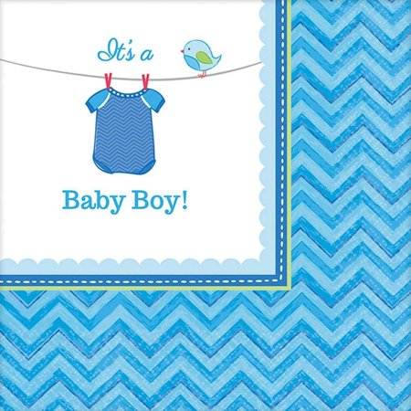 Baby Shower Boy Shower with Love Beverage Napkins, Pack of 16 by