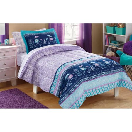 Mainstays Kids Elle Boho Bed In A Bag Complete Bedding Set Walmartcom