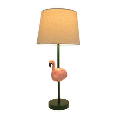 Tropical Pink Flamingo Table Lamp with White Linen Look Shade - image 4 of 4