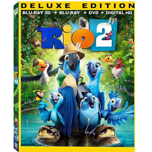 Rio 2 (Deluxe Edition) (3D Blu-ray + Blu-ray + DVD + Digital HD) (With INSTAWATCH) (Widescreen)