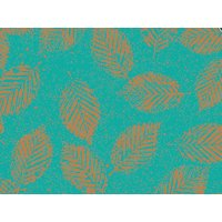 Copper Leaves Gift Wrap Wrapping 16ft Roll Paper