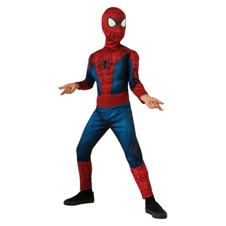 Child Deluxe Spider-Man Costume by Rubies 880604 - The Amazing Spider Man Deluxe Costume
