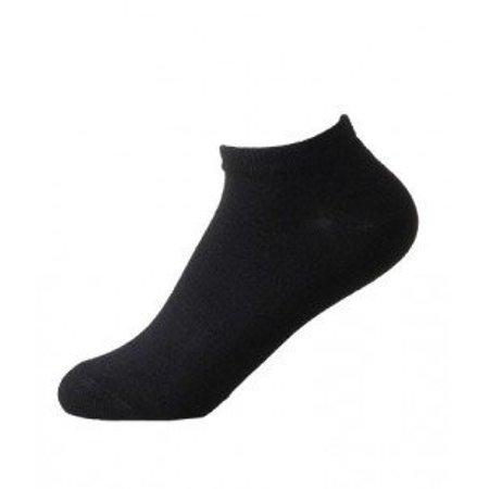 Organic Bamboo Ladies Sneaker Socks Black Boody 1 Pair (3-9) Pack