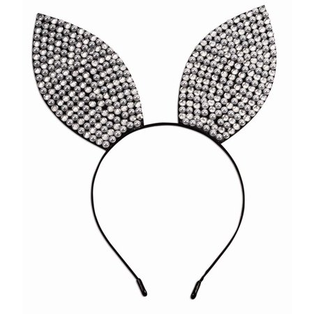 Rhinestone & Pearl Bunny Ears Headband Halloween Costume Accessory - Halloween Band Playlist