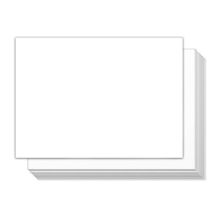 """White Blank 5 x 7"""" Card Stock Thick Paper – Blank Postcards and Index Flash Note Cardstock – Perfect for Greeting, Thank You, Invitations – Stationery   100 Cards Per Pack (100 Cards)"""