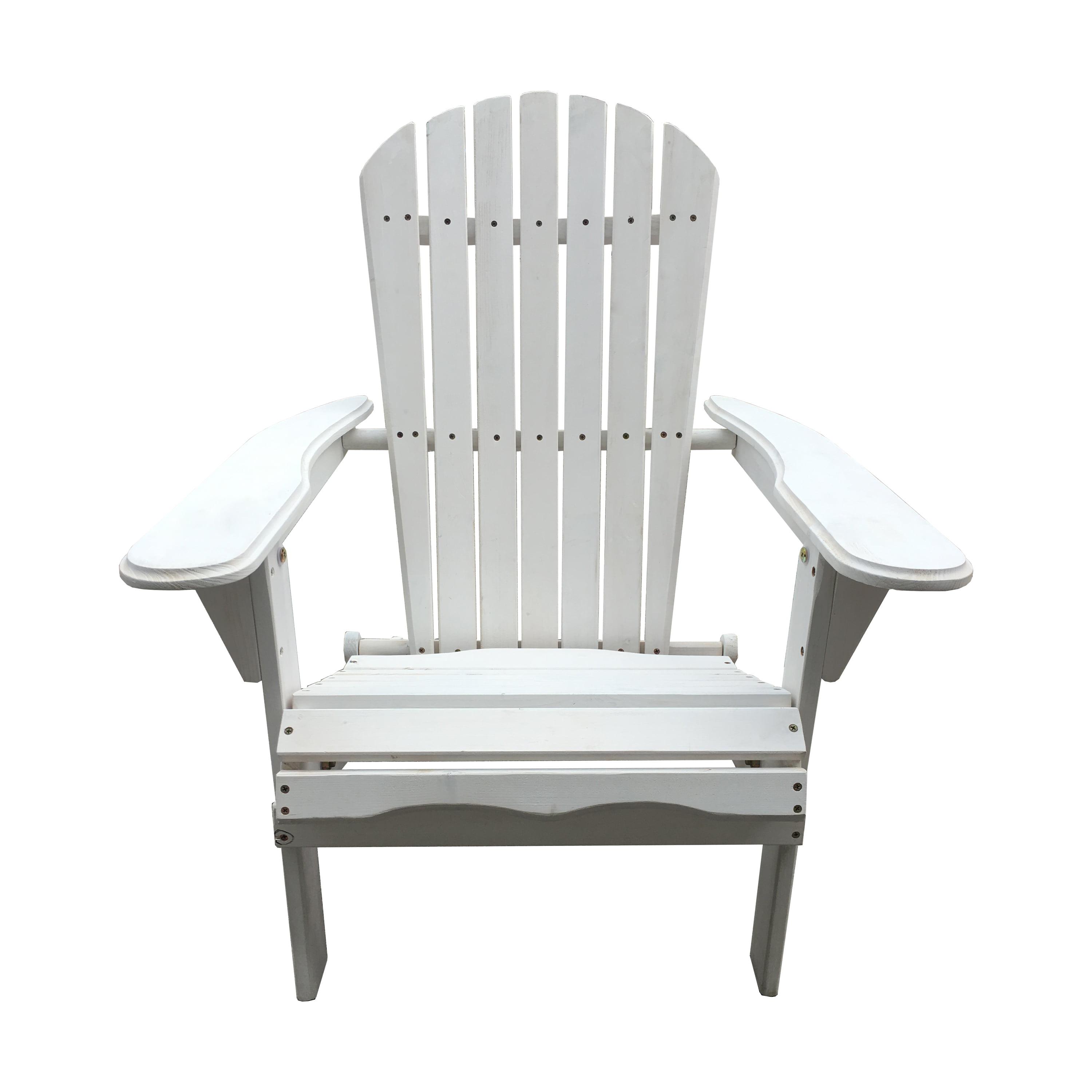 Incadozo Foldable Adirondack Chair, White