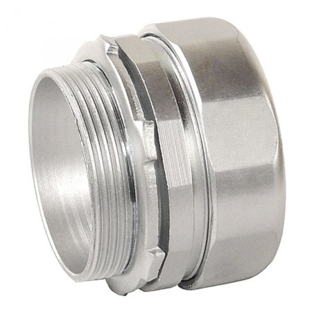 2 Pcs, 2 In. Zinc Plated Steel Compression Connector Used In Dry Locations to Bond 2In Unthreaded Rigid Or Imc Conduits to Electrical Junction Boxes Or Electrical (Best Locations For Distribution Centers)