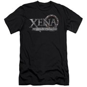 Xena Warrior Princess Battered Logo Mens Slim Fit Shirt