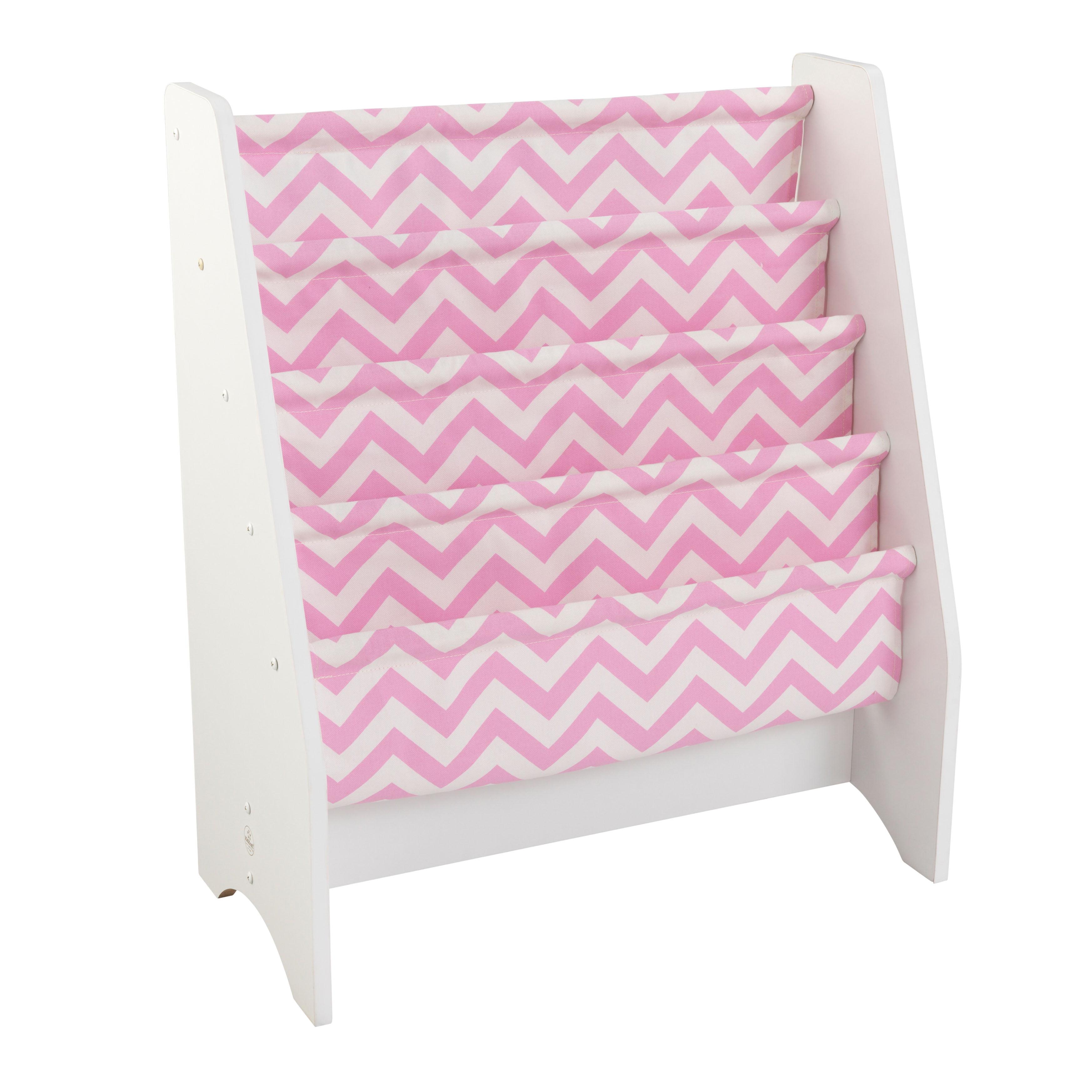 KidKraft Sling Bookshelf - Pink & White