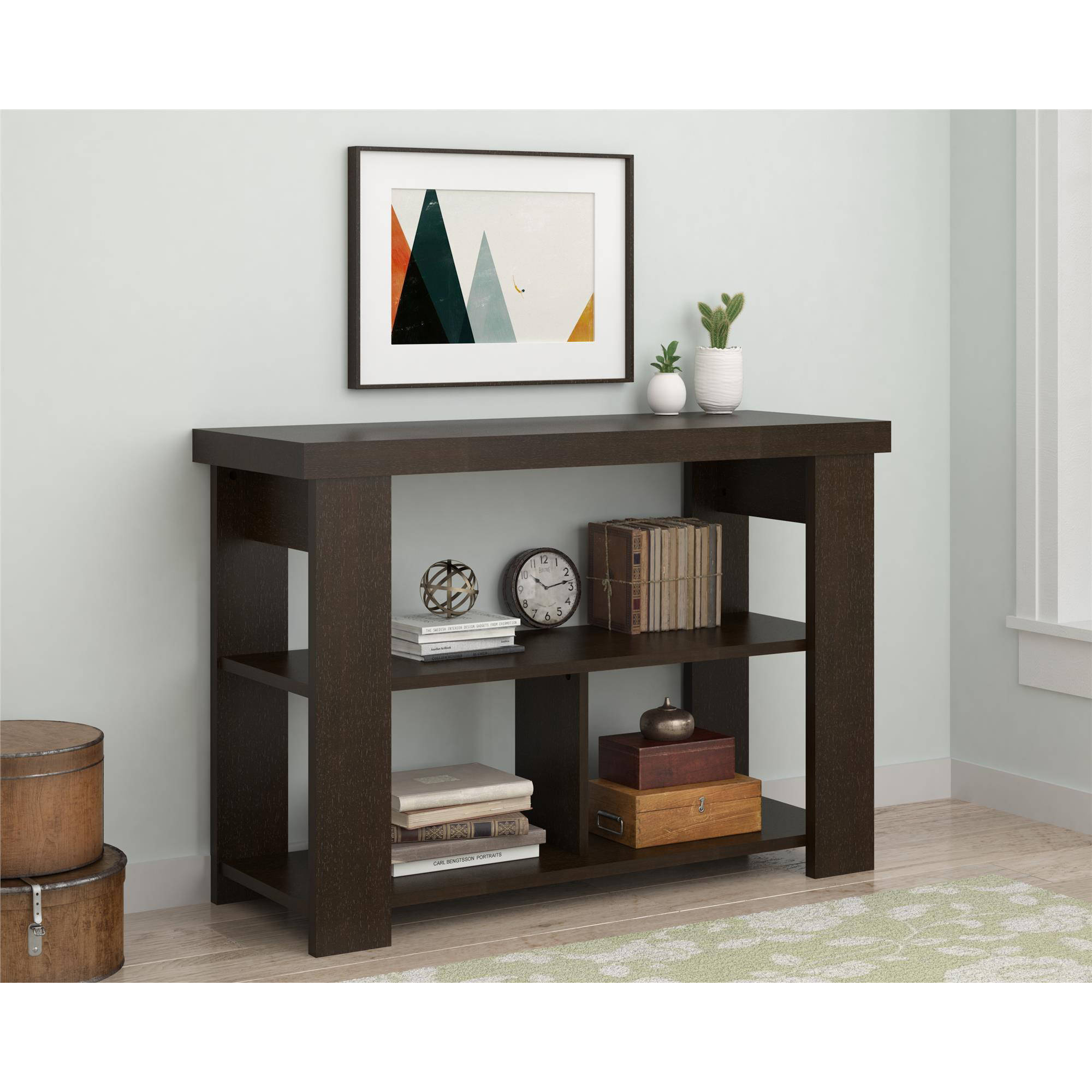 Ameriwood Home Larkin Console Table Espresso Walmart