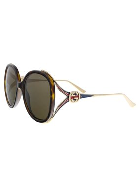 be1ba2799f Product Image GUCCI GG0226S 002 Havana Gold Oversized Round Sunglasses